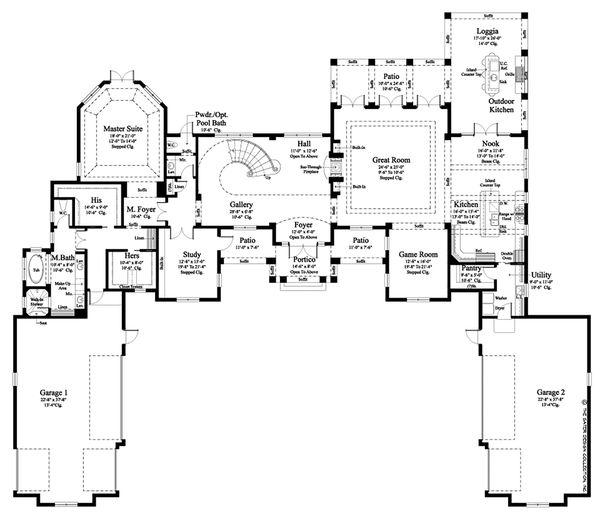 Contemporary Floor Plan - Main Floor Plan Plan #930-512