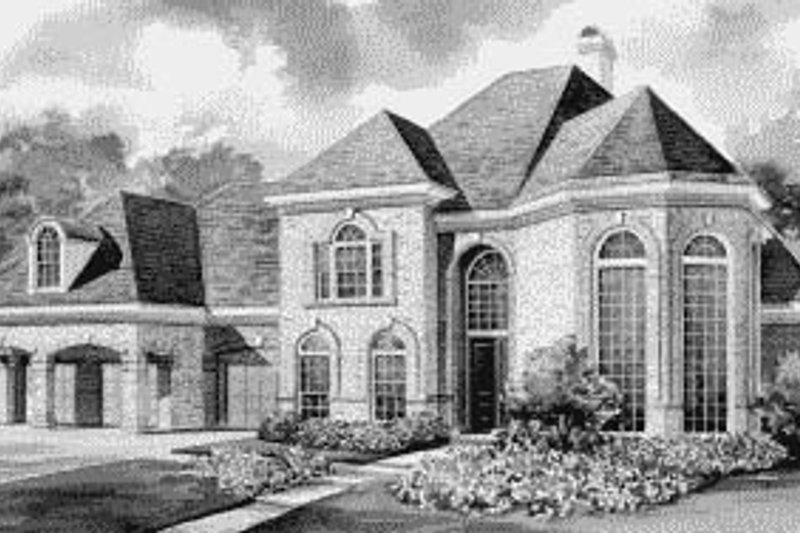 European Exterior - Front Elevation Plan #20-1192