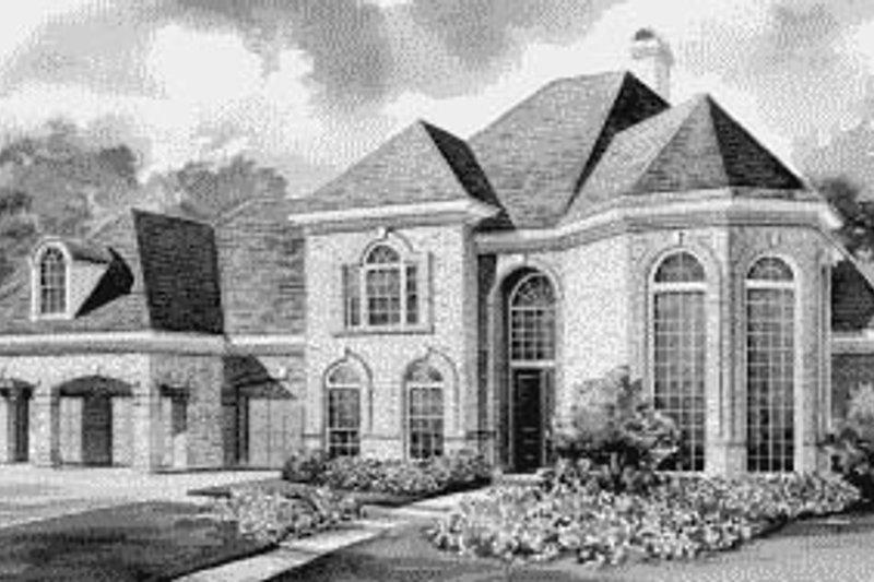House Plan Design - European Exterior - Front Elevation Plan #20-1192