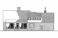 Southern Exterior - Rear Elevation Plan #137-123