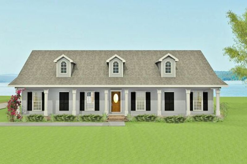 Southern Exterior - Front Elevation Plan #44-145