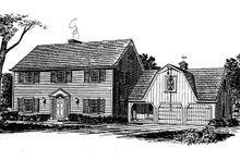 Dream House Plan - Colonial Exterior - Front Elevation Plan #315-108