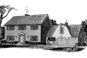 House Plan Design - Colonial Exterior - Front Elevation Plan #315-108