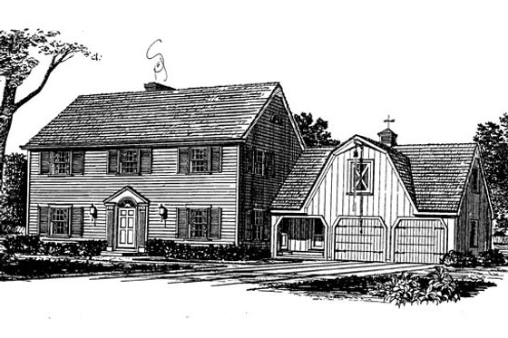 Colonial Exterior - Front Elevation Plan #315-108