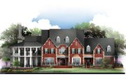 European Style House Plan - 4 Beds 5.5 Baths 5745 Sq/Ft Plan #119-168 Exterior - Front Elevation