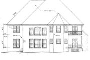Country Style House Plan - 4 Beds 4 Baths 3054 Sq/Ft Plan #10-221 Exterior - Rear Elevation