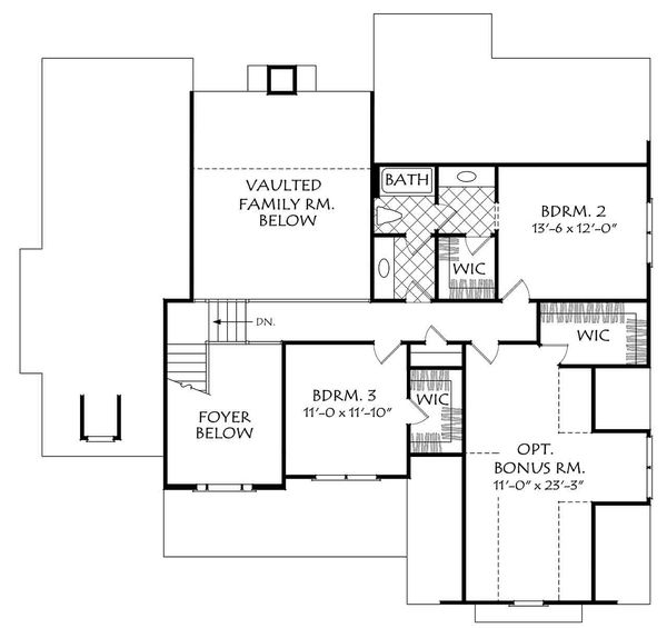 Cottage Floor Plan - Upper Floor Plan Plan #927-14