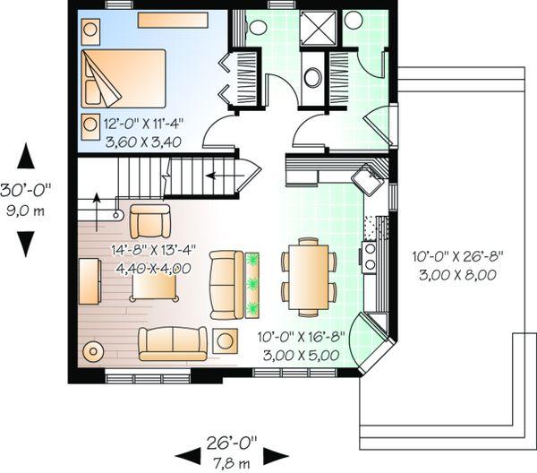 Dream House Plan - Cottage Floor Plan - Main Floor Plan #23-493