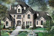 European Style House Plan - 4 Beds 2.5 Baths 2944 Sq/Ft Plan #25-224 Exterior - Front Elevation