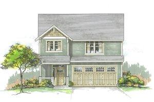 Craftsman Exterior - Front Elevation Plan #53-561
