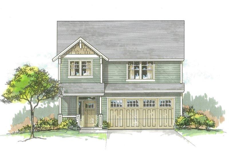 Craftsman Style House Plan - 3 Beds 2.5 Baths 1743 Sq/Ft Plan #53-561