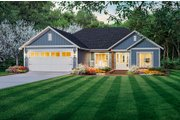 Country Style House Plan - 3 Beds 2 Baths 1416 Sq/Ft Plan #21-463
