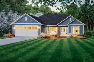 Country Exterior - Front Elevation Plan #21-463
