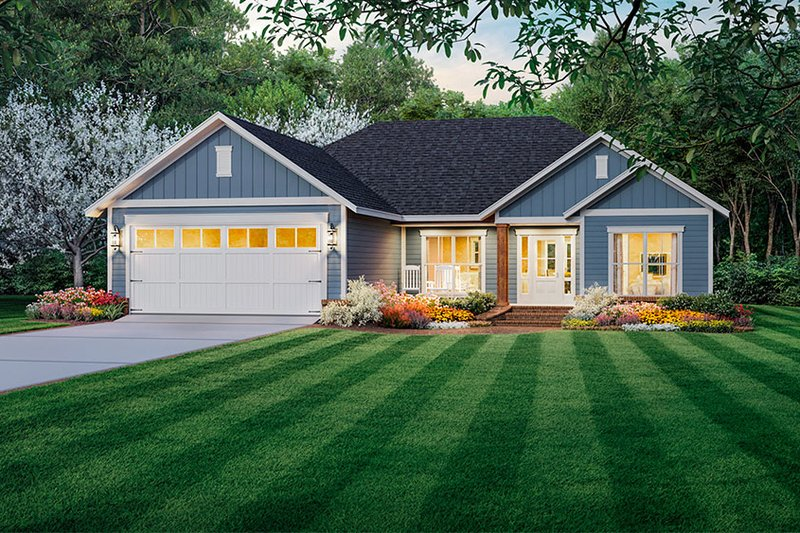Architectural House Design - Country Exterior - Front Elevation Plan #21-463
