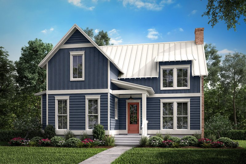 Farmhouse Style House Plan - 1 Beds 1 Baths 1494 Sq/Ft Plan #430-177 Exterior - Front Elevation
