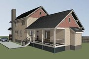Craftsman Style House Plan - 4 Beds 3.5 Baths 2163 Sq/Ft Plan #79-274 Exterior - Other Elevation