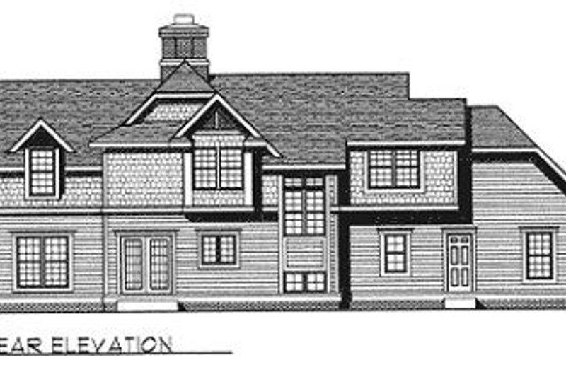 Country Exterior - Rear Elevation Plan #70-365 - Houseplans.com