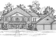 Southern Style House Plan - 5 Beds 3.5 Baths 4280 Sq/Ft Plan #325-244 Exterior - Front Elevation