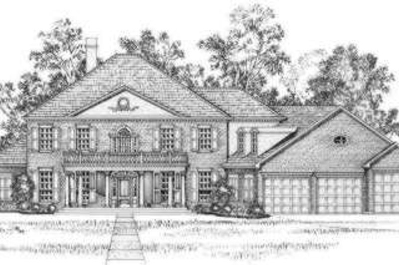 Southern Exterior - Front Elevation Plan #325-244