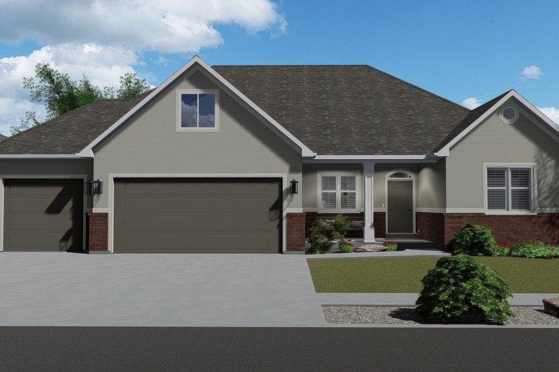 House Plan Design - Traditional Exterior - Front Elevation Plan #1060-46