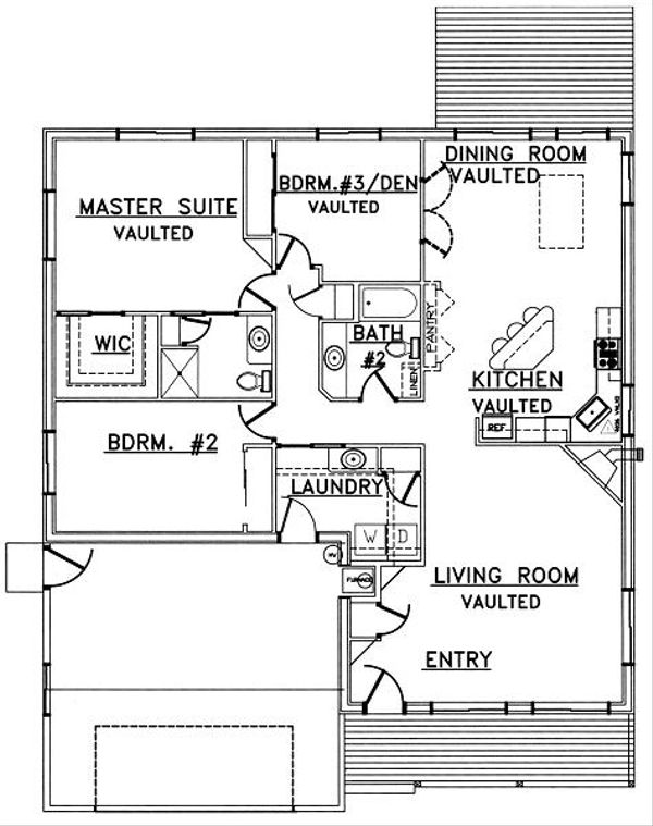 Traditional Floor Plan - Main Floor Plan Plan #117-158