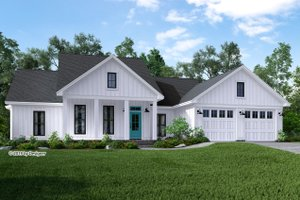 Dream House Plan - Farmhouse Exterior - Front Elevation Plan #430-188