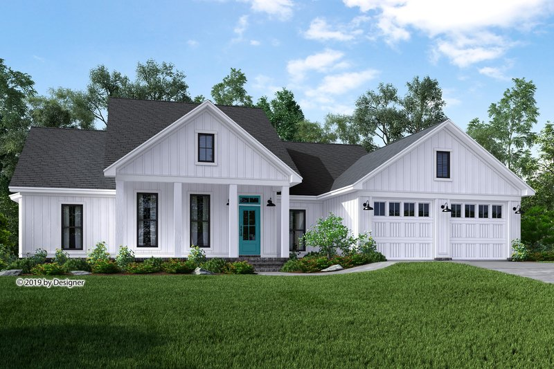Farmhouse Style House Plan - 3 Beds 2 Baths 1745 Sq/Ft Plan #430-188