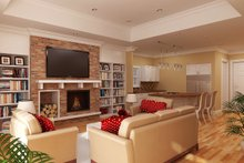 Dream House Plan - Living Room -- 1400 square foot European home