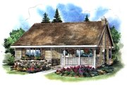 Country Style House Plan - 2 Beds 1 Baths 728 Sq/Ft Plan #18-1039 Exterior - Front Elevation