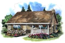 House Blueprint - Country Exterior - Front Elevation Plan #18-1039