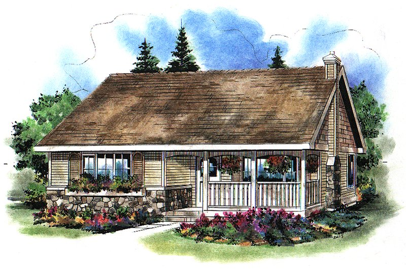 Home Plan - Country Exterior - Front Elevation Plan #18-1039