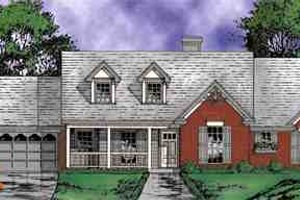 Architectural House Design - Country Exterior - Front Elevation Plan #40-111