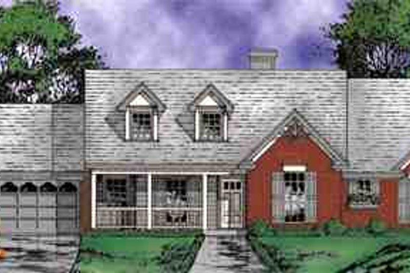 Country Exterior - Front Elevation Plan #40-111