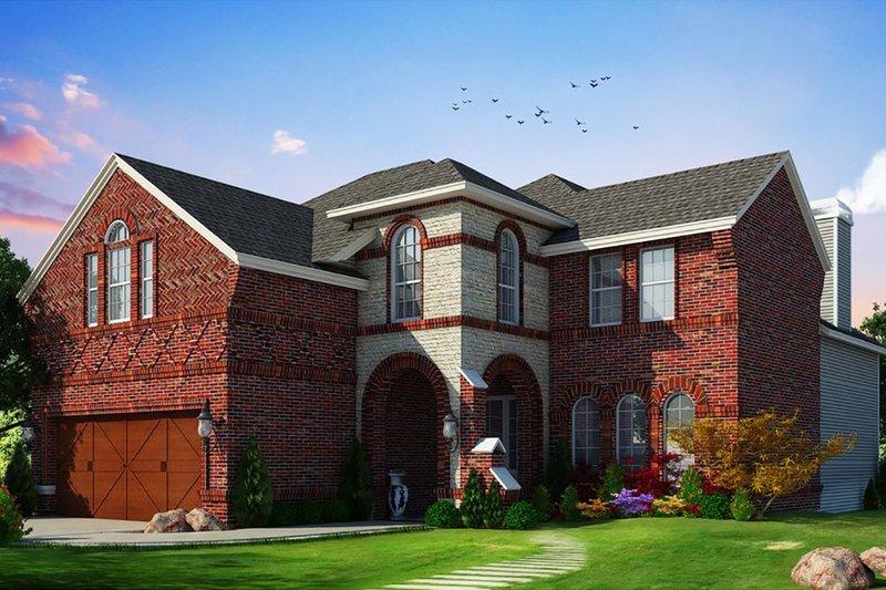 Dream House Plan - European Exterior - Front Elevation Plan #20-2448