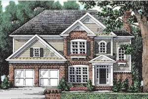 Colonial Exterior - Front Elevation Plan #927-21