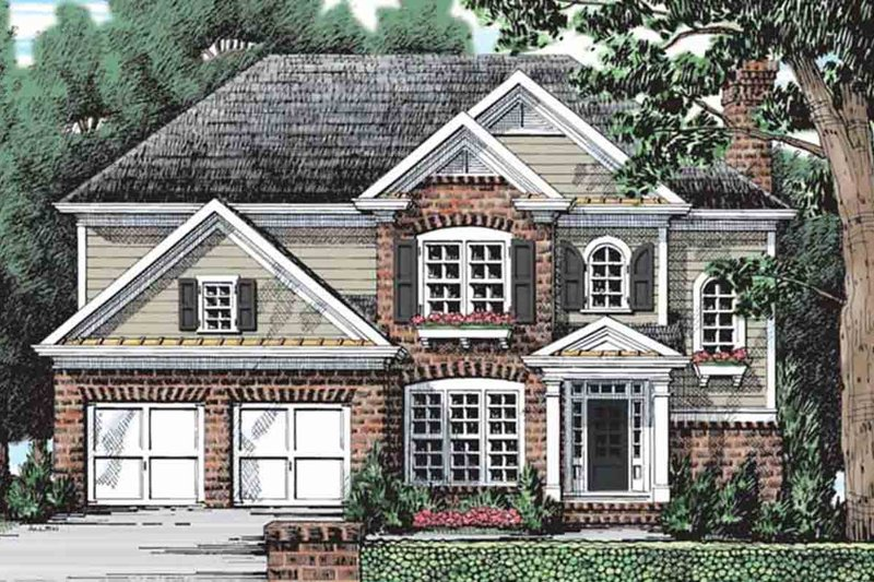 Colonial Style House Plan - 5 Beds 3 Baths 2361 Sq/Ft Plan #927-21 Exterior - Front Elevation