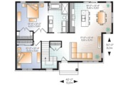 Ranch Style House Plan - 2 Beds 1 Baths 1133 Sq/Ft Plan #23-2617 Floor Plan - Main Floor Plan