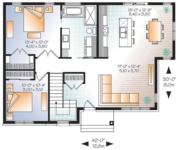 House Plan Design - Ranch Floor Plan - Main Floor Plan #23-2617