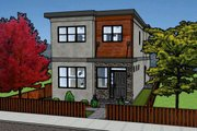 Modern Style House Plan - 3 Beds 1.5 Baths 1106 Sq/Ft Plan #126-171 Exterior - Front Elevation