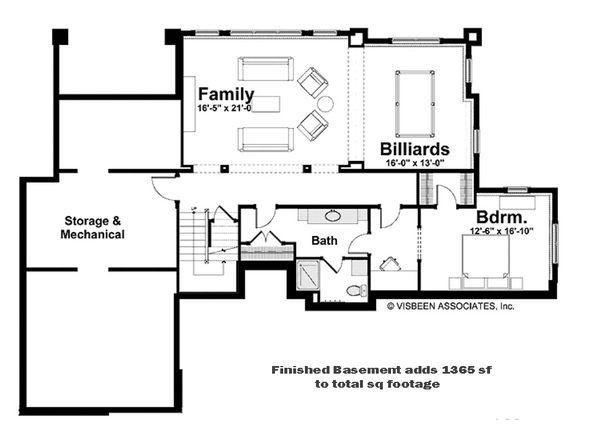 European Style House Plan - 3 Beds 3.5 Baths 3649 Sq/Ft Plan #928-215 Floor Plan - Other Floor Plan