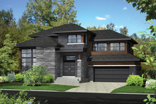 Architectural House Design - Contemporary Exterior - Front Elevation Plan #25-4905