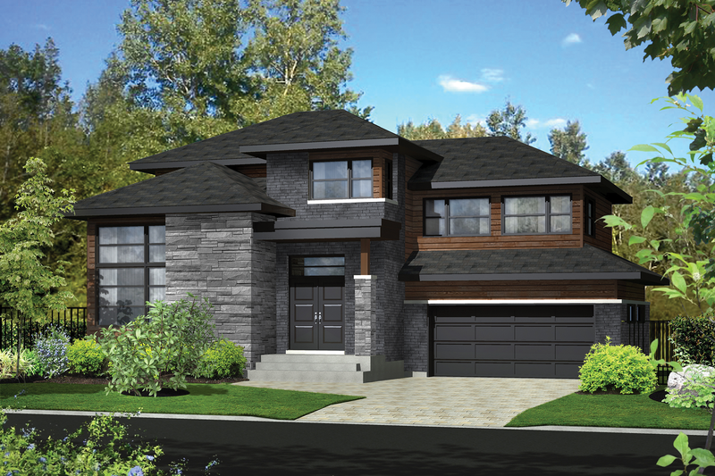 Home Plan - Contemporary Exterior - Front Elevation Plan #25-4905