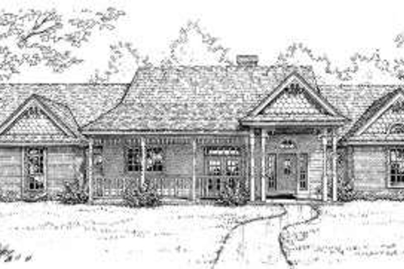 Southern Style House Plan - 4 Beds 2.5 Baths 2495 Sq/Ft Plan #310-138 Exterior - Front Elevation