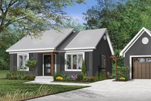 Cottage Exterior - Front Elevation Plan #23-116