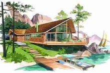 Contemporary Exterior - Front Elevation Plan #72-298