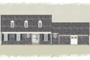 Colonial Style House Plan - 3 Beds 3.5 Baths 2013 Sq/Ft Plan #489-8 Exterior - Rear Elevation