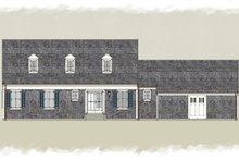 Colonial Exterior - Rear Elevation Plan #489-8