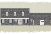 Home Plan - Colonial Exterior - Rear Elevation Plan #489-8