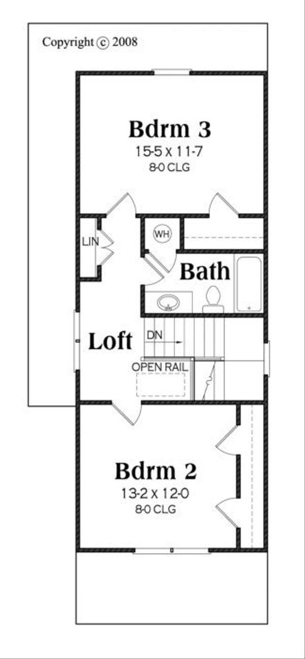 Traditional Floor Plan - Upper Floor Plan Plan #419-232