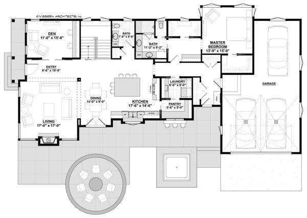 House Plan Design - Contemporary Floor Plan - Main Floor Plan #928-311